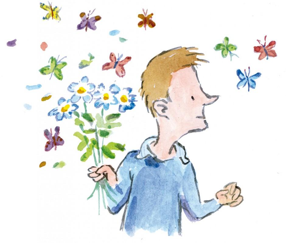 Flower-Man editorial illustration